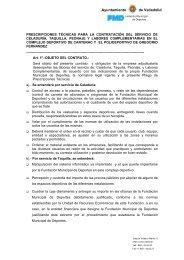 Pliego - FMD - Fundación Municipal de Deportes Ayuntamiento de ...
