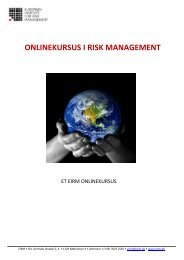 ONLINEKURSUS I RISK MANAGEMENT - primo