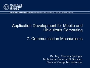 7. Communication Mechanisms - Faculty of Computer Science ...