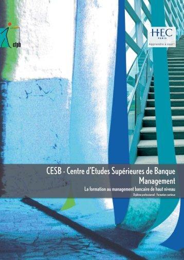 [pdf] CESB Management - Plaquette de présentation - CFPB