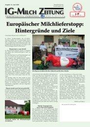IG-MILCH ZEITUNG Europäischer Milchlieferstopp ... - A faire Milch
