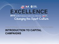 INTRODUCTION TO CAPITAL CAMPAIGNS - USSA