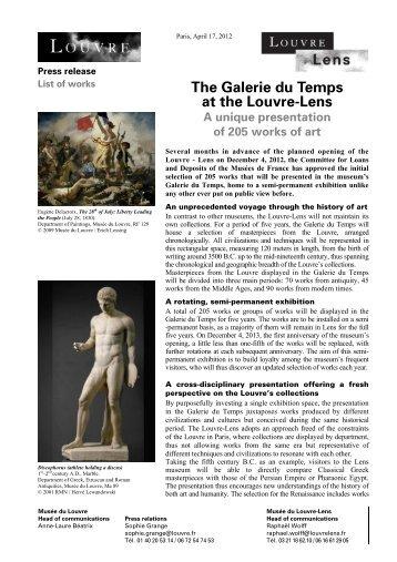 The Galerie du Temps at the Louvre-Lens A unique presentation of ...