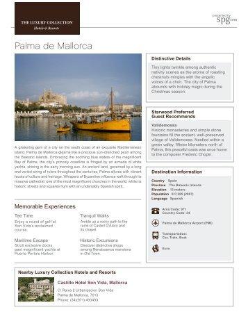 Palma de Mallorca - Luxury Collection Destination Guides