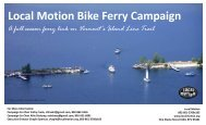 continued ferry development - Local Motion