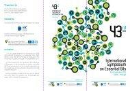 International Symposium on Essential Oils - ISEO 2012 ...