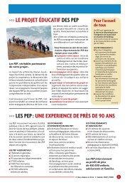 les pep : une experience de près de 90 ans >>> le projet éducatif ...