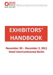 November 30 – December 2, 2011 Hotel InterContinental Berlin