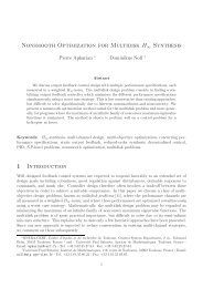 Nonsmooth Optimization for Multidisk H∞ Synthesis 1 Introduction