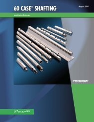 60 Case LinearRace Shafting - Thomson