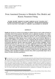 From Annotated Genomes to Metabolic Flux Models and Kinetic ...