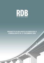 progetto di bilancio di esercizio e consolidato al 31 dicembre ... - Rdb