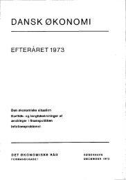 Dansk økonomi, efteråret 1973 - De Økonomiske Råd