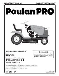 IPL, POULAN PRO, PB23H48YT, 96042012603, 2012-10, TRACTOR