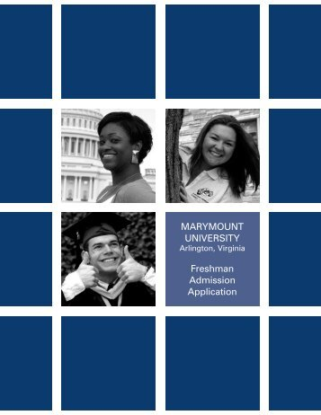 General Admissions application - Marymount University in Arlington ...
