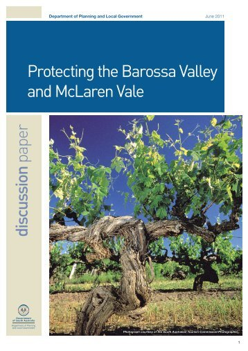 discussion paper Protecting the Barossa Valley and McLaren Vale