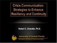 Crisis Communication - Florida Division of Emergency Management