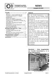 Wissenswertes / Lusti- ges - Tiertafel Deutschland eV