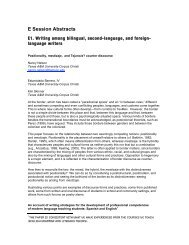 E Session Abstracts - Writing Program