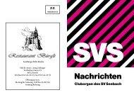 Inserate, Nr.161, April 2011 - Sportverein Seebach