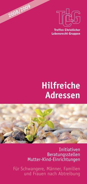 Hilfreiche Adressen (8. Auflage 2008/2009) - TCLG