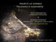 MAURICE ILE DURABLE The process to sustainability - ELIA ...
