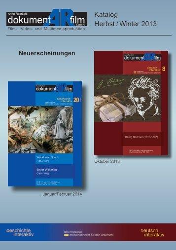 Katalog Herbst/Winter 2013 - dokumentARfilm