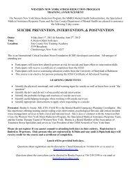 suicide prevention, intervention, & postvention - Erie County
