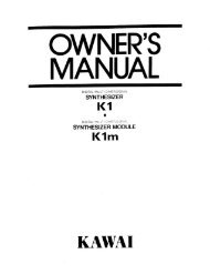 QWNER'S MANUAL - Kawai Technical Support