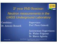 Neutron measurements in the LNGS Underground Laboratory