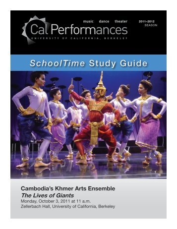 Cambodia's Khmer Arts Ensemble - Cal Performances - University of ...