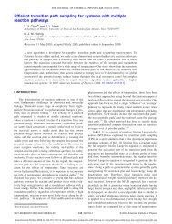 Efficient transition path sampling for systems with multiple ... - LY Chen