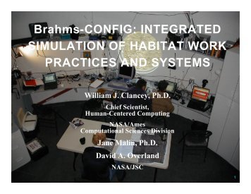 Brahms-CONFIG - Division of Space Life Sciences