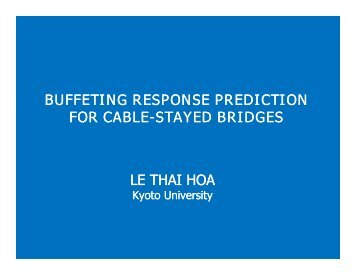 BUFFETING RESPONSE PREDICTION FOR CABLE FOR CABLE ...