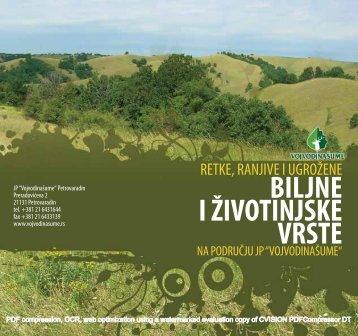 BILJNE I ŽIVOTINJSKE VRSTE - Vojvodinašume