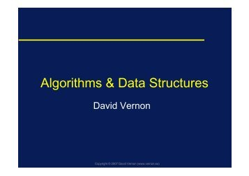 Algorithms & Data Structures - David Vernon