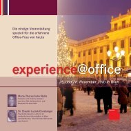 25. und 26. November 2010 in Wien - OFFICE SEMINARE