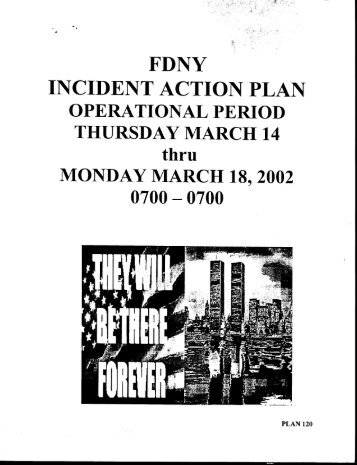 Fdny : Incident Action Plan Thursday - September 11 Digital Archive