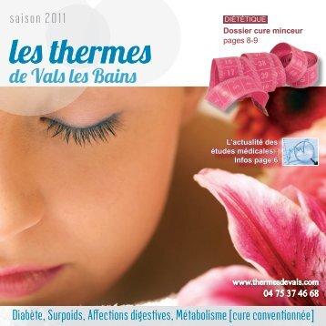 plaquette vals les bains2.indd - Thermes de Vals-les-Bains