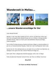 Wanderzeit in Mellau…