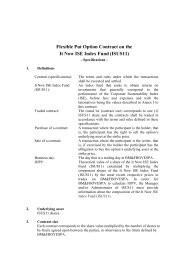 Flexible Put Option Contract on the It Now ISE ... - BM&FBovespa