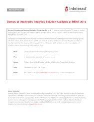 Demos of Intelerad's Analytics Solution Available at RSNA 2012