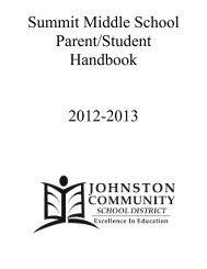 2012-13 Handbook - Johnston Community School District