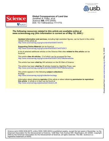 DOI: 10.1126/science.1111772 , 570 (2005); 309 Science et al ...