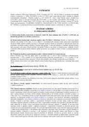 USNESENÍ Dražební vyhlášku (o elektronické dražbě) - e-aukce