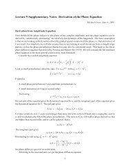 Lecture 9 Supplementary Notes: Derivation of the Phase Equation