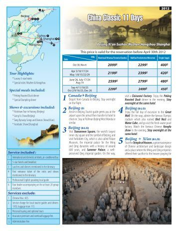 China Classic 11 Days - Wonder Travel