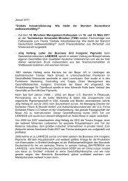 Januar 2011 - Münchner Management Kolloquium