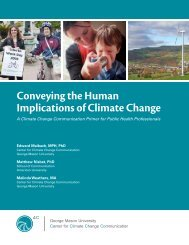 Conveying the Human Implications of Climate Change - Center for ...