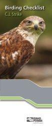 C.J Strike Birding Checklist - Idaho Power